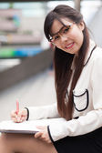 Smile and relax businesswoman. — Stock Photo