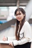 Smile and relax businesswoman. — Stockfoto