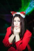 Santa woman dressing. — Stockfoto