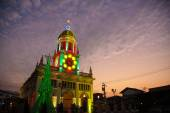 Church of Christ at Christmas decorations. — 图库照片
