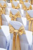 Wedding chairs inside — Stock Photo