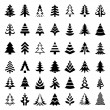 Christmas trees icons big collection — Vector de stock  #59746283
