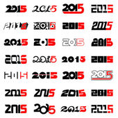 New year 2015 text design collection — Stock Vector