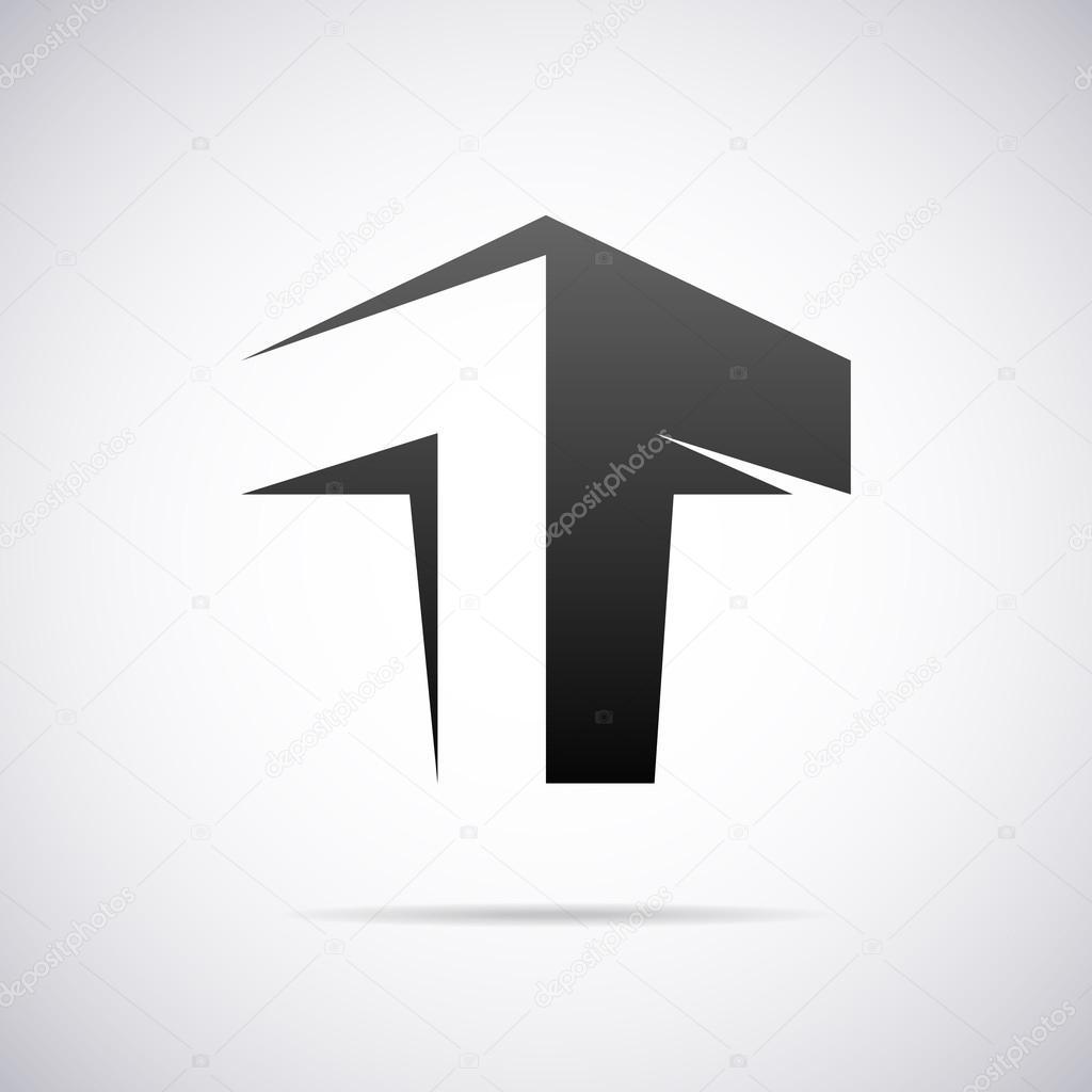 vector logo for letter t design template � stock vector