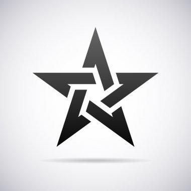 Vector star logo. Design template