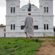 Mosque and man in Fort Galle — Stock Photo #57249043