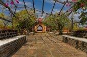 Old garden in pagoda,  Bagan — Stock Photo