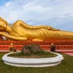 Gold reclining Buddha in Wat Si Saket in Vientiane, Laos — Stock Photo #64346915