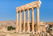 Temple of Jupiter in Baalbek ancient Roman ruins, Beqaa Valley of Lebanon. Known as Heliopolis during the period of Roman Empire. — Stock Photo