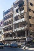 Building in Haret Hreik area destroyed by Israeli bombing in the city of Beirut in 2006 — Stock Photo