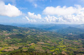 Beautiful mountain landscape in Nothern Thailand. Phu Ruea National Park. — Stock Photo