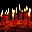 Celebratory cake with candles — Stockfoto #60127779