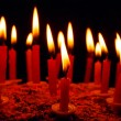 Celebratory cake with candles — Stockfoto #61617447