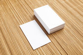 Business cards blank mockup - template — Stock Photo