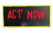 Actuar ahora concepto — Foto de Stock