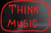 Müzik konsepti düşünüyorum — Stok fotoğraf