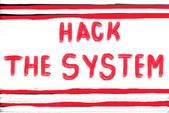 Hack the system — Stock Photo