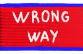 Wrong way concept — Foto Stock