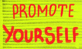 Promote yourself — Stok fotoğraf