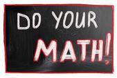 Do your math! — Stock Photo