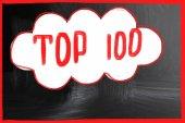 Top 100 concept — Stock Photo