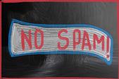 No spam concept — Stock Photo