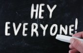 Hey everyone! — Stock Photo