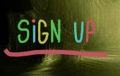 Sign up concept — Stock Photo