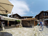 NESSEBAR, BULGARIA - JUNE 16: People visit Old Town on June 16, 2014 in Nessebar, Bulgaria. Nessebar in 1956 was declared as museum city, archaeological and architectural reservation by UNESCO. — Stock Photo