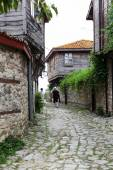 People visit Old Town on June 18, 2014 in Nessebar, Bulgaria. — Stock Photo