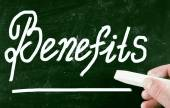 Benefits concept — Стоковое фото
