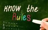 Know the rules concept — Stock Photo