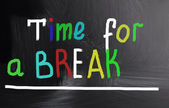Time for a break concept — Stock Photo