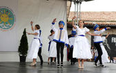 "NESSEBAR - JUNE 18: ""Sun, Joy, Beauty"" 15th International Children's Festival on June 18, 2014 in Nessebar, Bulgaria. It starts on 15th June. — Stock Photo"