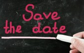 save the date — Stock Photo