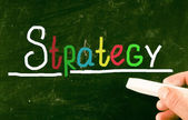 Strategy concept — Stock Photo