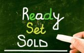 Ready set sold concept — Stock Photo
