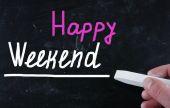 Happy weekend concept — Stock Photo