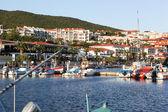 Sveti vlas - augustus 29: yachtport marina dinevi, augustus 29, 2014. sveti vlas is een plaats (town) en seaside resort op de zwarte zee kust van bulgarije, gelegen in de gemeente nesebar boergas. — Stockfoto