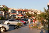 SVETI VLAS - AUGUST 29: Yachtport Marina Dinevi, August 29, 2014. Sveti Vlas is a town and seaside resort on the Black Sea coast of Bulgaria, located in Nesebar municipality, Burgas Province. — Stock Photo