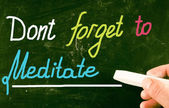 Dont forget to meditate — Stok fotoğraf