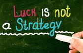 удача это не стратегия — Стоковое фото