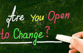 Are you open to change? — Stock Photo