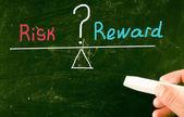 Risk reward concept — Stock Photo