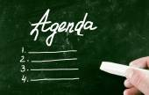 Agenda concept — Stockfoto