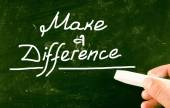 Make a difference concept — Stock Photo