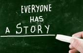 Everyone has a story — Stock Photo