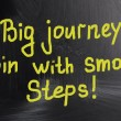 Big journeys begin with small steps! — Stock Photo #62602921
