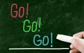 Go go go concept — Stock Photo