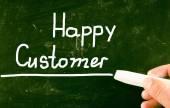 Happy customer — Stock Photo